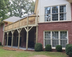 Deck over covered patio