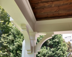 Covered Patio Woodwork