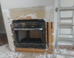Wood Burning Stove Remodel Project