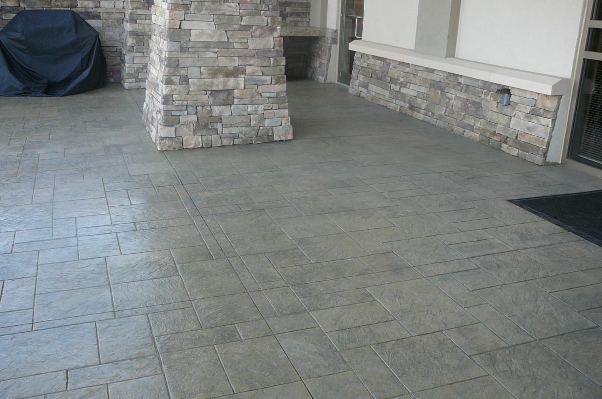 Masonry Contractor Stamped Concrete Decorative Patio