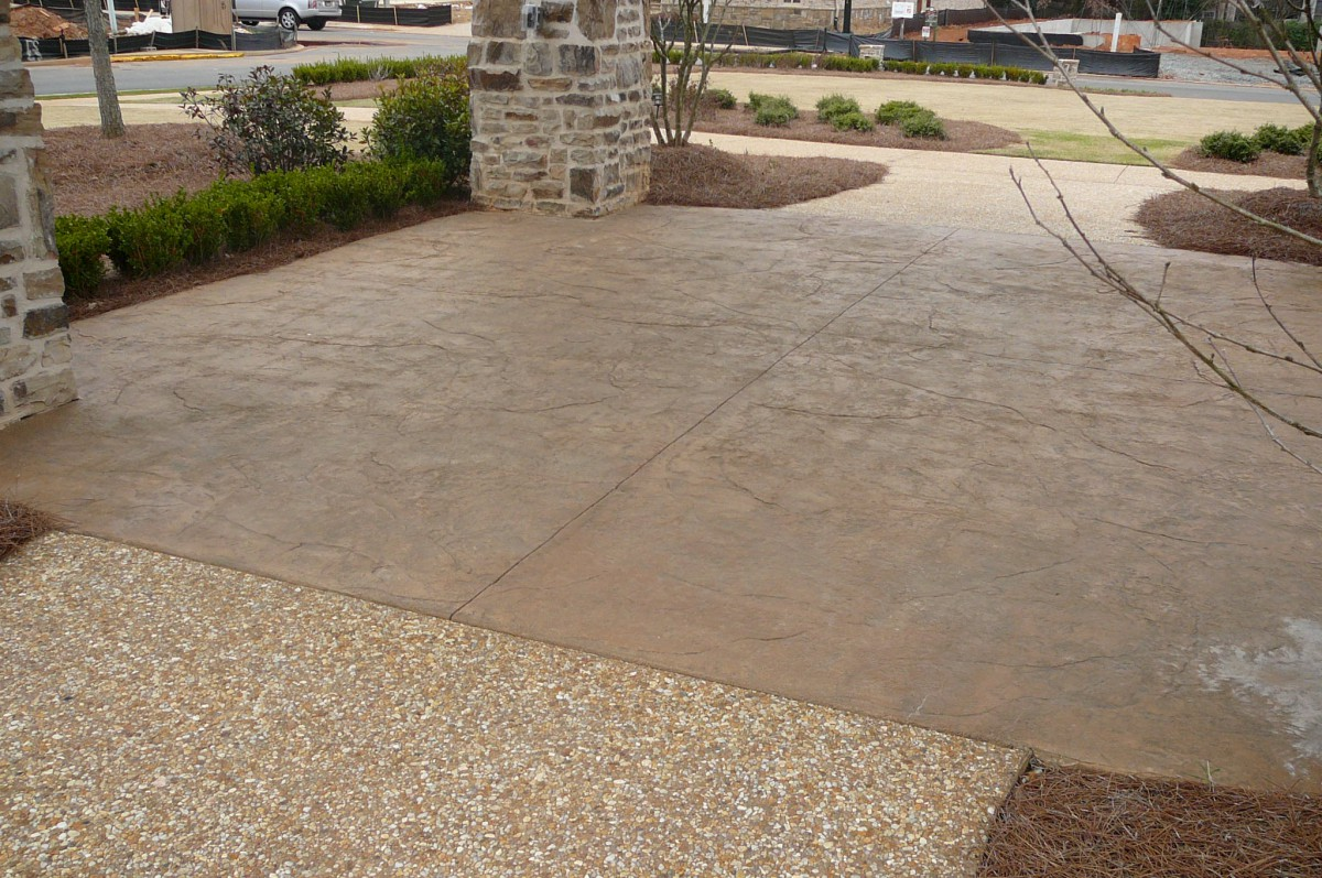 Stamped Concrete Kitchens : Outdoor kitchen flooring choices