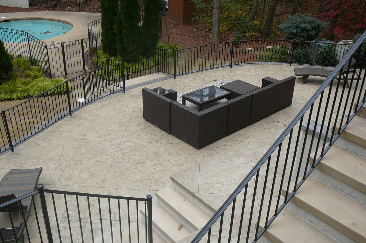 Outdoor Living with a patio that has the ceative stamped concrete detailing! Call ContractorMen 3580 Polly's Bluff Cumming, GA 30028 today to design your Outdoor Living Space!