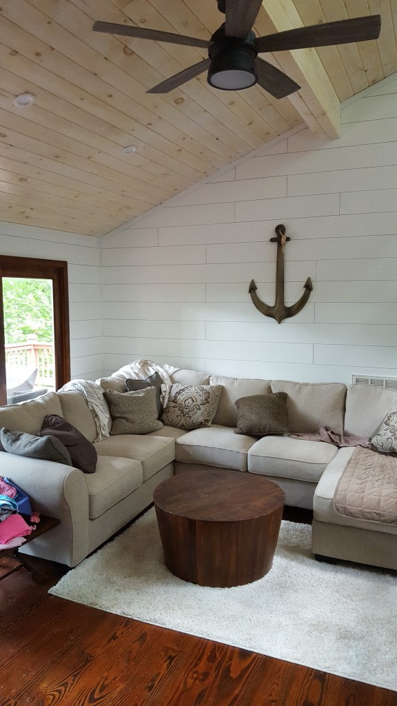 Shiplap is great for farmhouse style.