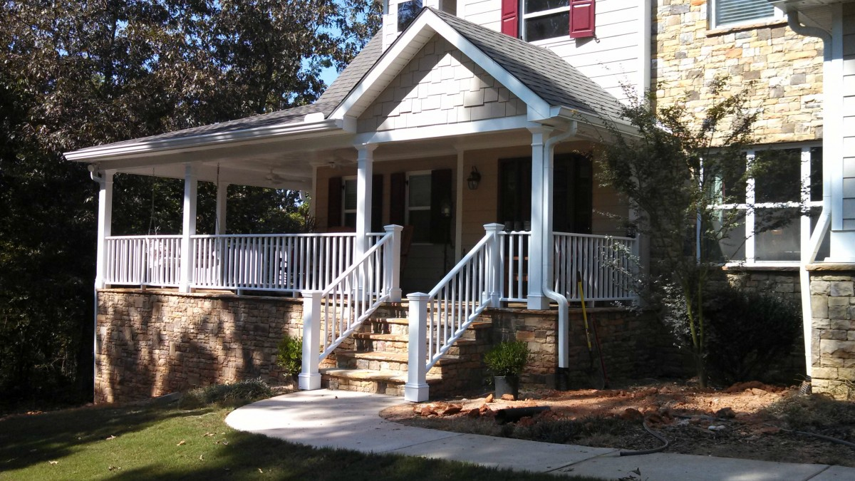 The addition of a front porch can beautify your home just in time for spring.