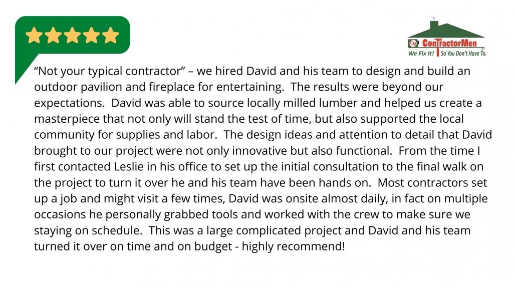 ContractorMen Customer Review