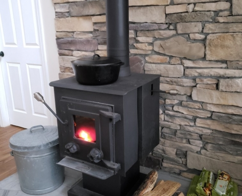 Custom-Remodeling-Project-Wood-Burning-Stove